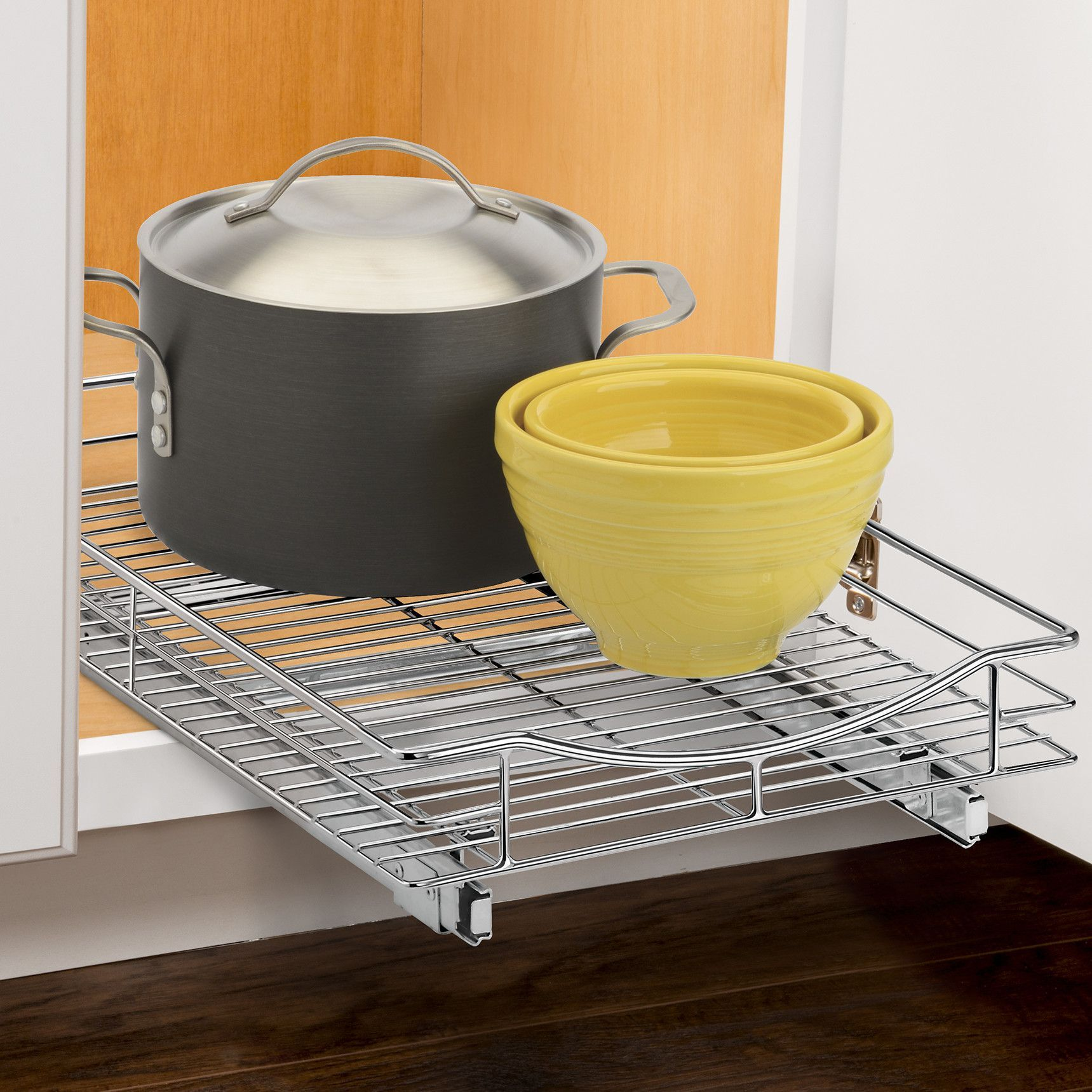 """Professional 14"""" x 21"""" Roll Out Cabinet Drawer Organizer"""