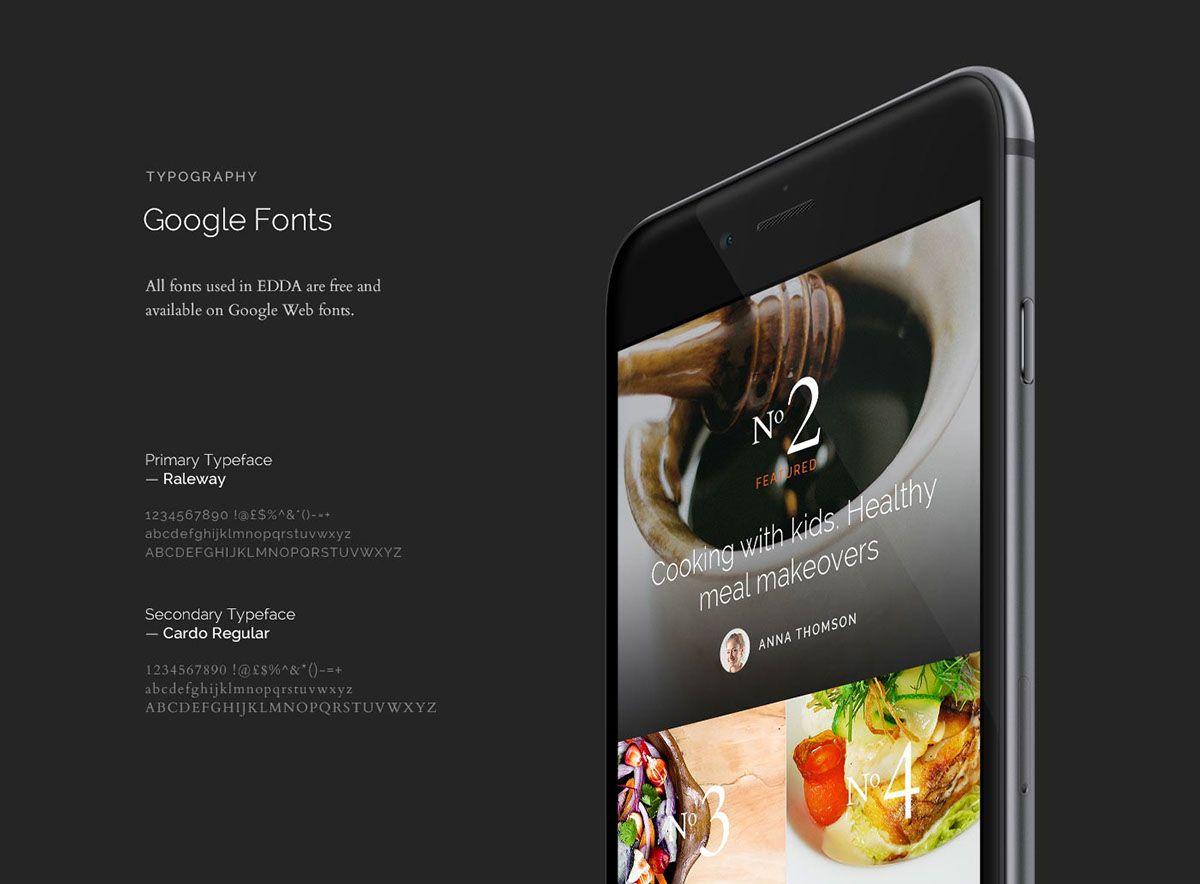 EDDA UI Kit on App Design Served