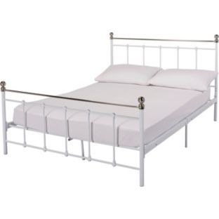buy eversholt double bed frame white at argoscouk your online - Double Bed Frames
