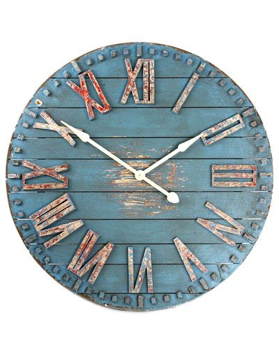 Love This Oversized Blue Wall Clock