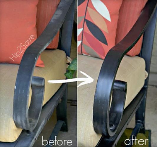 Apply Car Wax To Metal Plastic Or Molded Furniture To Protect