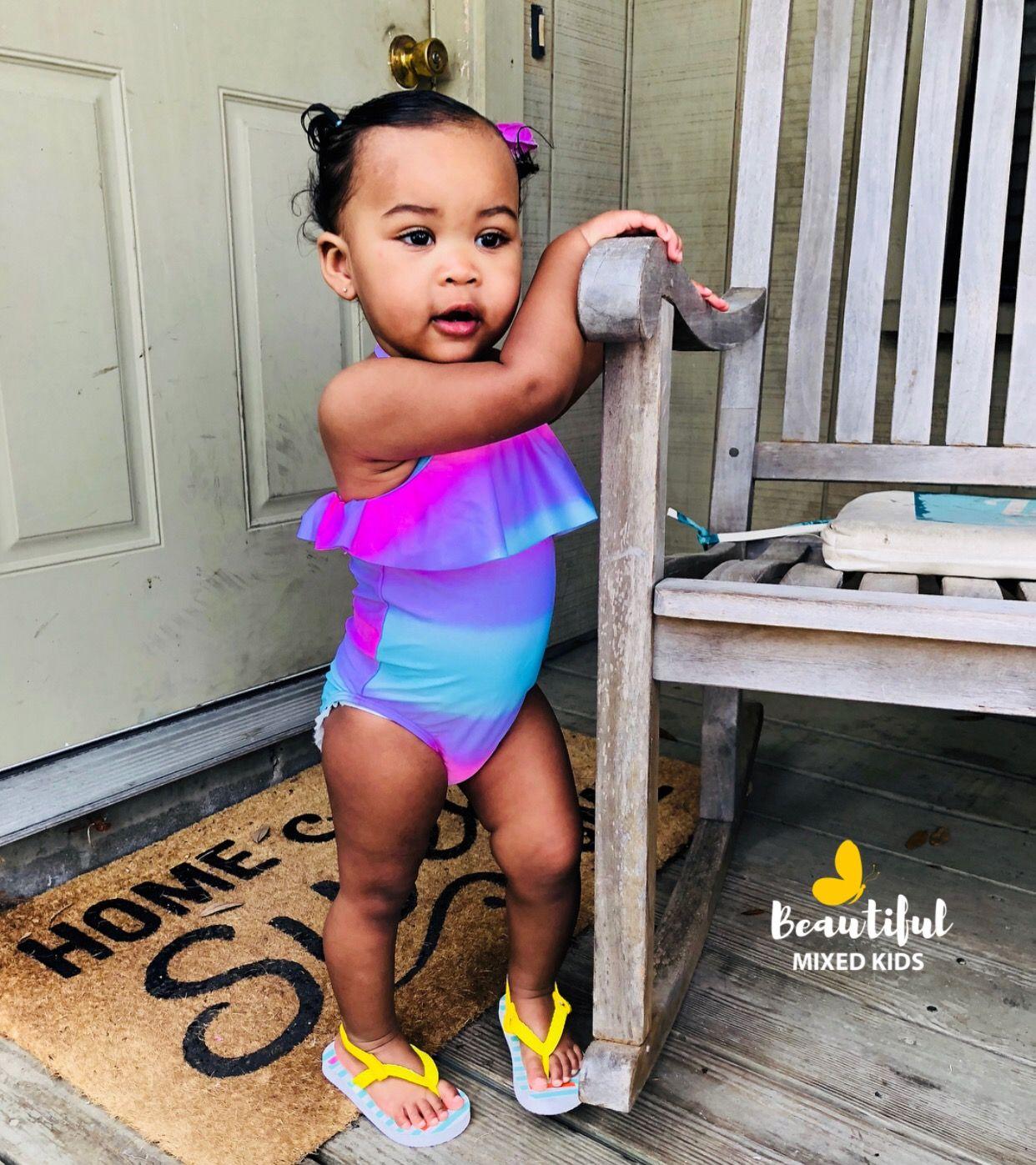 Kaymani Marie 1 Year Old African American Filipino German Baby Girl Fashion Beautiful Black Babies Baby Beau