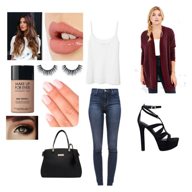 """""""Untitled #7"""" by skaur-i on Polyvore featuring J Brand, Silence + Noise, Charlotte Tilbury, MAKE UP FOR EVER, Elegant Touch and GUESS"""