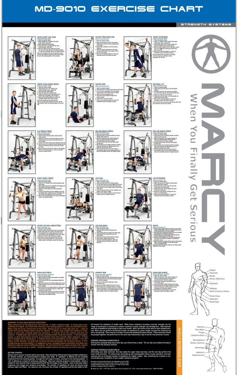 Marcy Home Gym Workout Chart