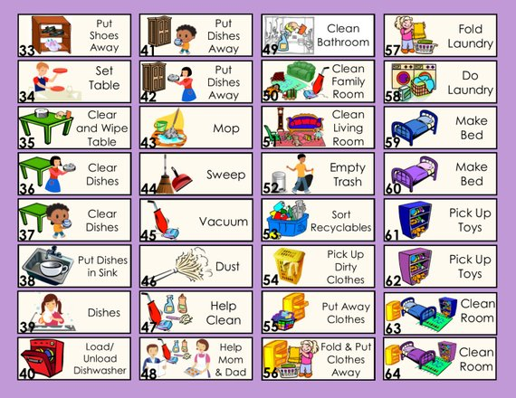 Features 10 Moveable Chores of your choice Chore Chart for Home a Custom Daily Schedule for Toddlers on Up