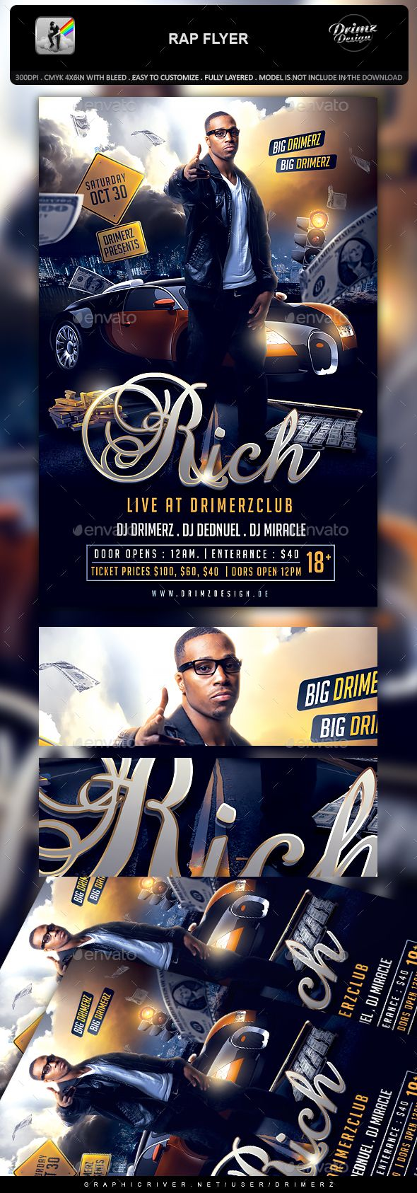 rap flyer template psd flyer templates pinterest flyer