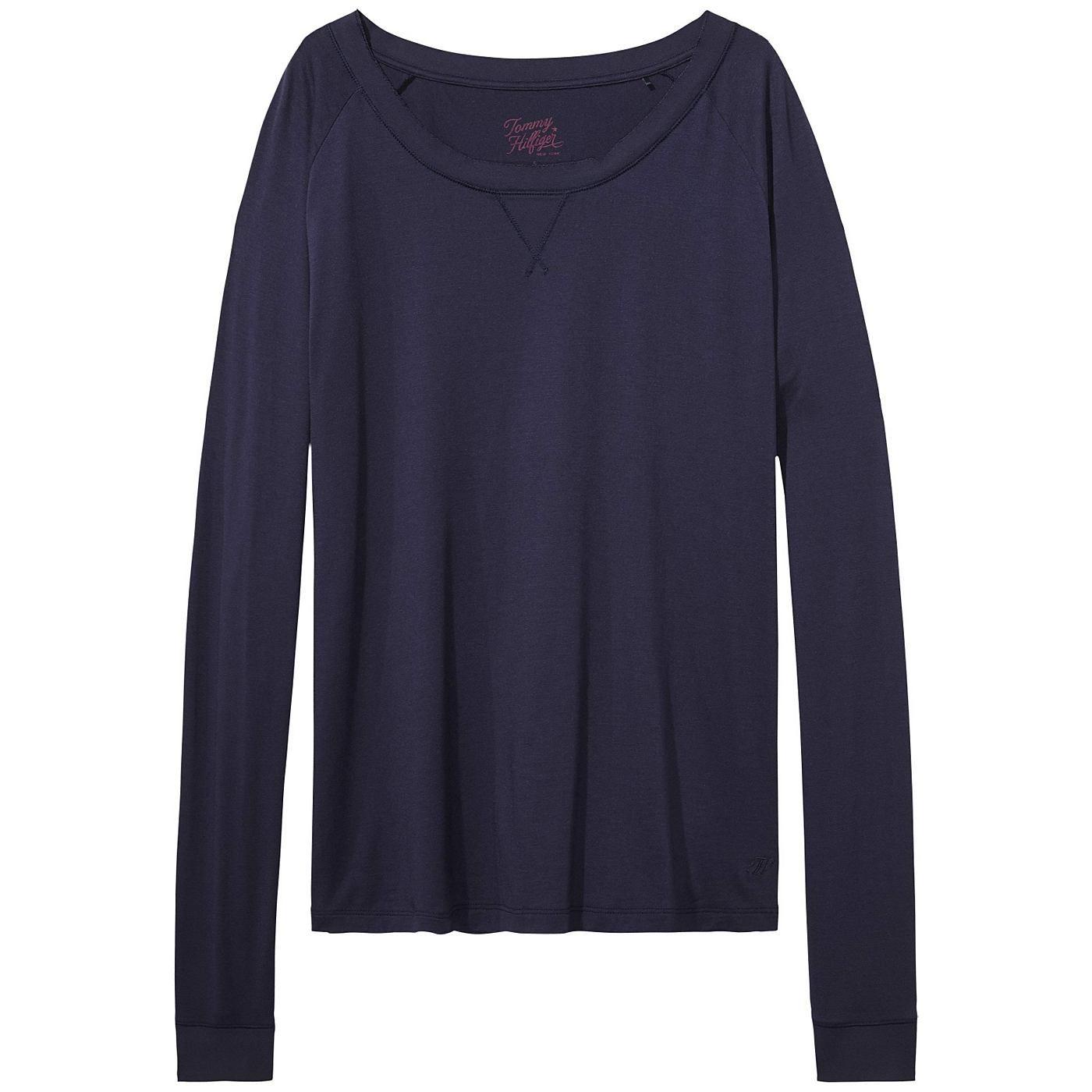 Schönes Loungewear-Basic: Langarmshirt mit Rundhalsausschnitt und geradem Schnitt. 97% Modal, 3% Elastan...