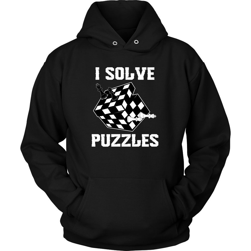 I Solve Puzzles Rubick's Cube and Chess Unisex Hoodie