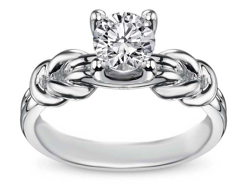 Engagement Ring -Double Love Knot Solitaire Engage