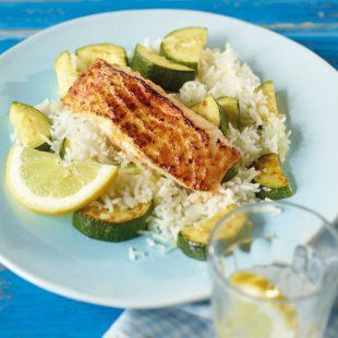 <3 Recipe: Seelachs mit Zucchini Reis