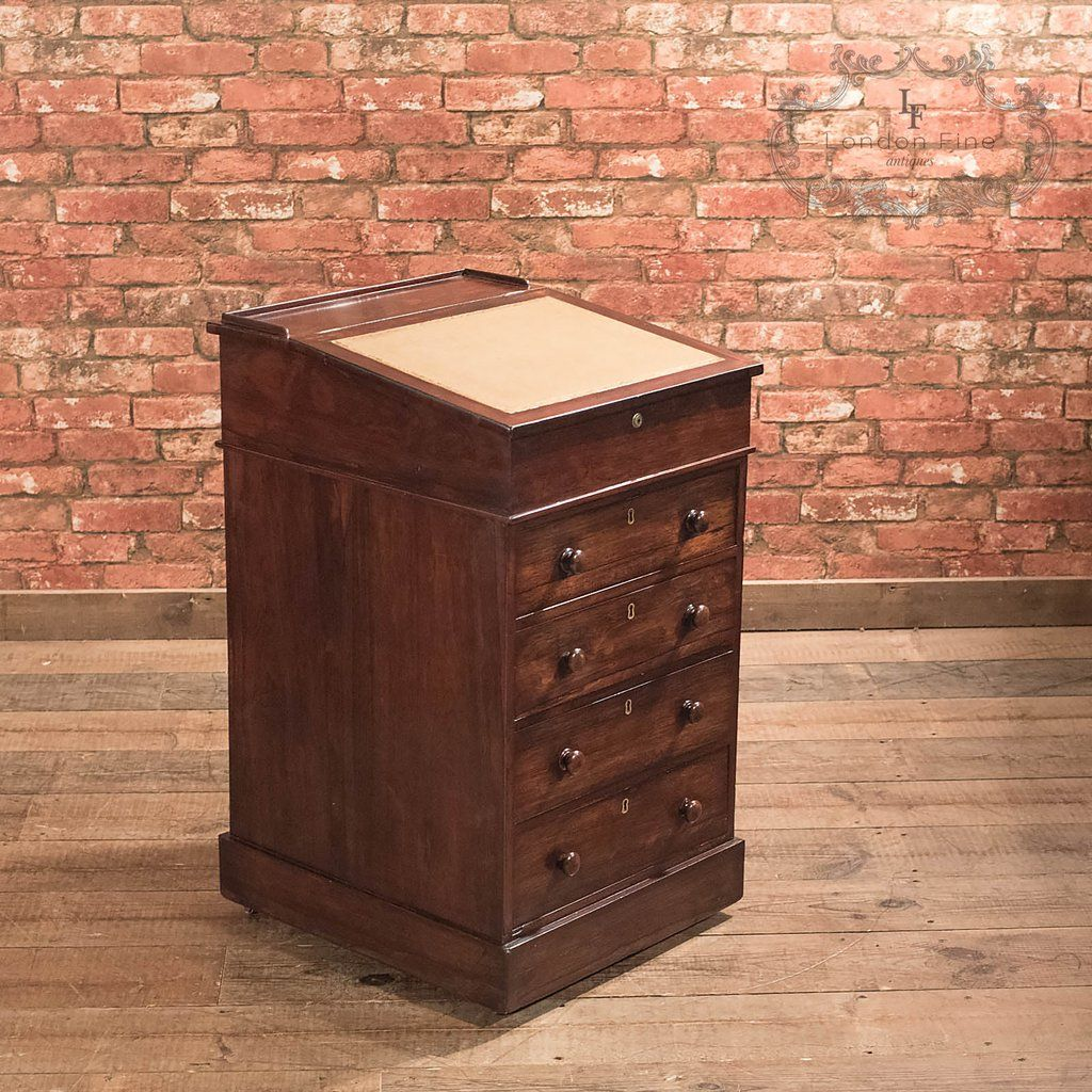 This is a Victorian antique Davenport dating to the mid century, Antique  furniture shipping worldwide from our UK store. - Antique Davenport, Victorian Swivel Top Desk Antique Desks And