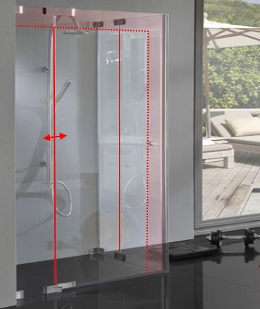 Duschkabine Eckeinstieg Ideal für kleine & schmale Bäder
