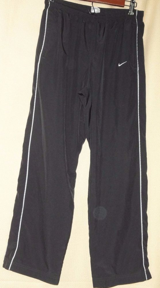 Nike Men's Black  and gray Polyester Running Pants Size M #Nike #Pants