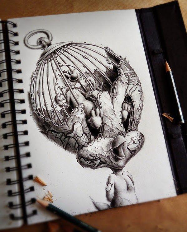 Dibujos A Lapiz De Graffitis Buscar Con Google Dibujos Detallados Cuadernos De Bocetos Arte Espeluznante