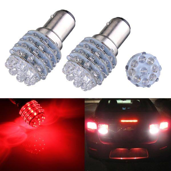 1pcs Bay15d 1157 1016 5w T25 Red 45 Led Car Tail Stop Light Bulb