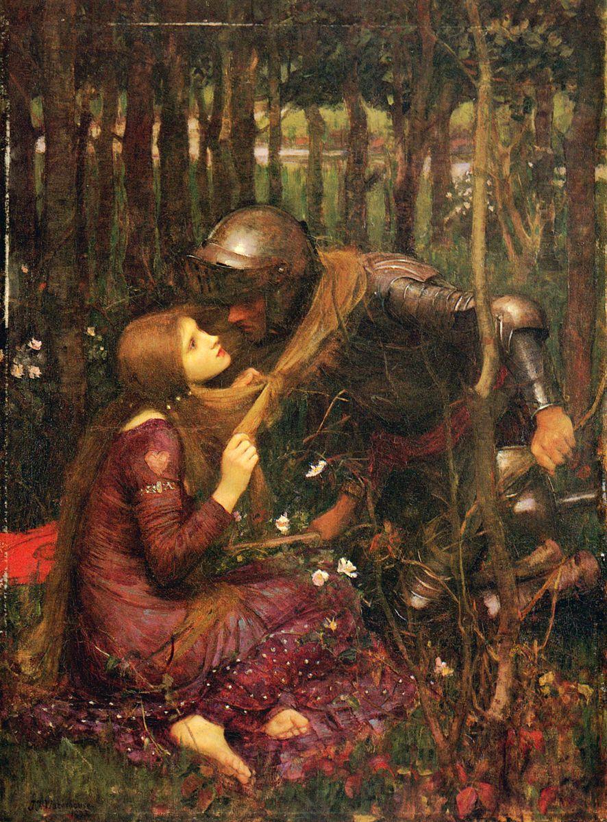 John William Waterhouse - La Belle Dame sans Merci (1893) on display in Darmstadt, Germany