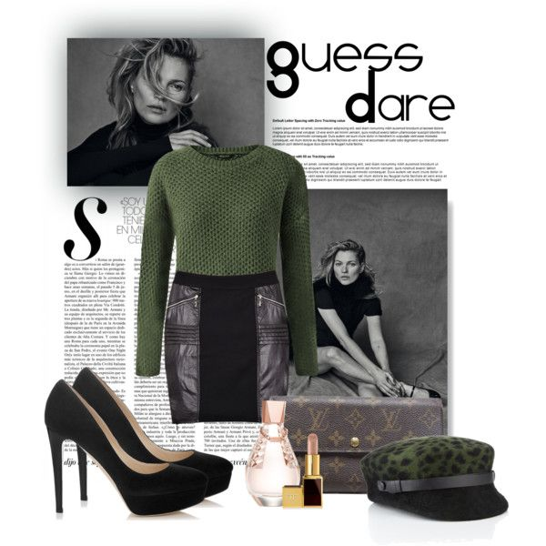 GUESS DARE #2 by fernandamaverick on Polyvore featuring GUESS, Jimmy Choo, Louis Vuitton, Laura Cathcart and Tom Ford