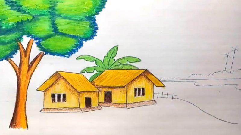 Cara Mewarnai Pohon Dekat Rumah Art Painting