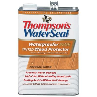 Thompson S Waterseal 1 Gal Natural Cedar Waterproofer Plus Tinted Wood Protector Th 011861 16 The Home Depot Thompson Waterseal Thompsons Waterproofers