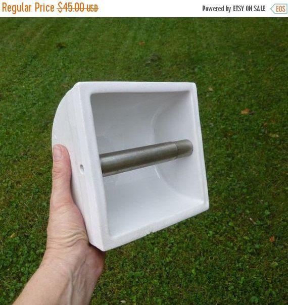 Glossy White Ceramic Recessed Toilet Paper Holder Badkamer