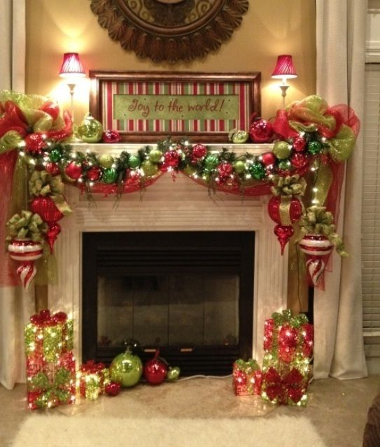 Beautiful Fireplace Hearth Christmas Decorating Ideas Part - 8: ADD FIRE TO THE FIREPLACE AREA WITH MESMERIZING DECORATION IDEAS