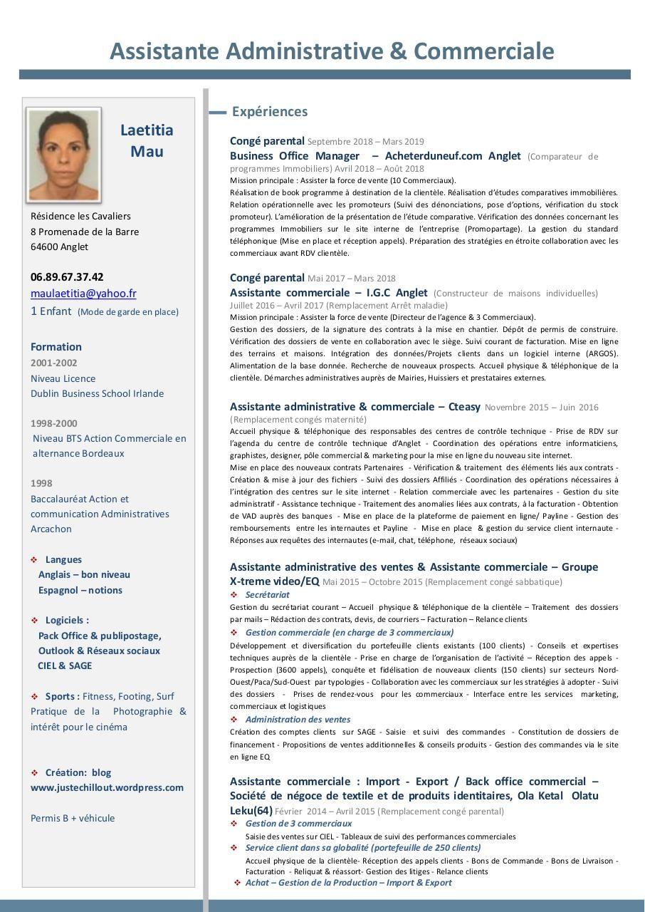 Lecture Et Telechargement Du Fichier Cv Assistante Administrative Et Commerciale Cv Assistante Administrative Assistante Administrative Assistante Commerciale