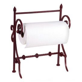 Wrought Iron Paper Towel Holder With