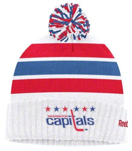 f52faa89b5721 WASHINGTON CAPITALS NHL Winter Classic GOALIE Cuffed W Pom Knit Hat Cap  BEANIE By