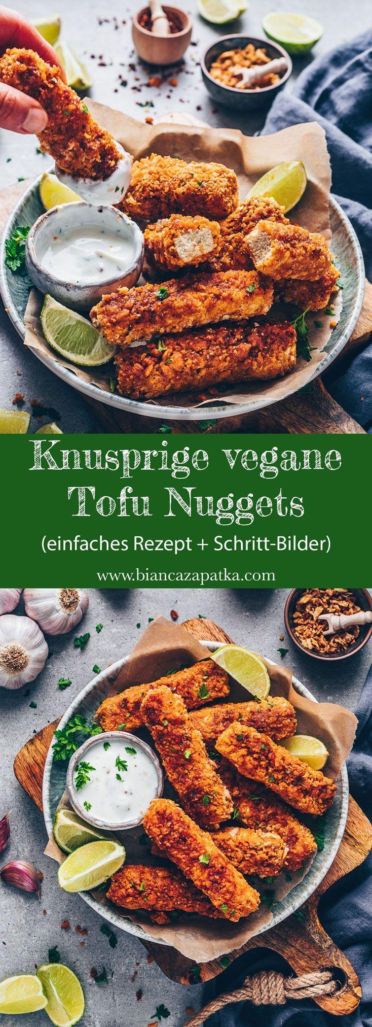 Knusprige Tofu Nuggets #vegetarischerezepteschnell