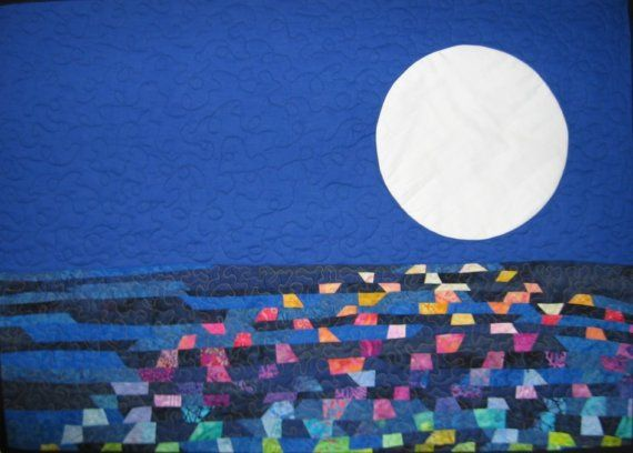 Light on the Water Art Quilt by JaneHicksQuilts on Etsy, $225.00