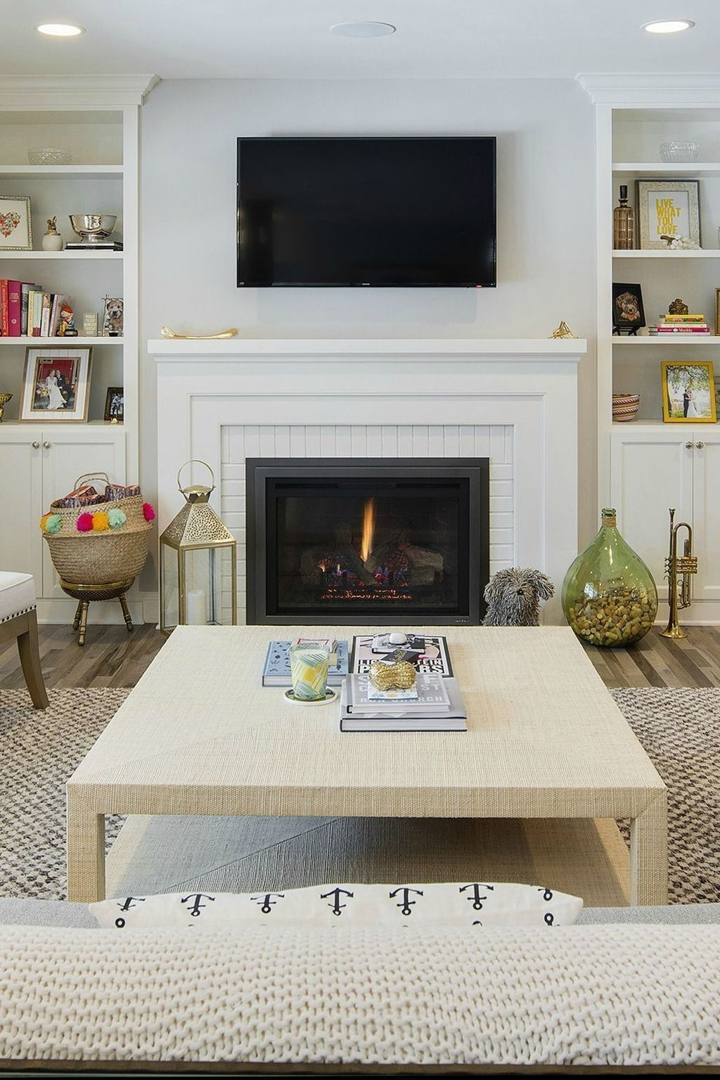 Most current Free of Charge Brick Fireplace with tv above ...