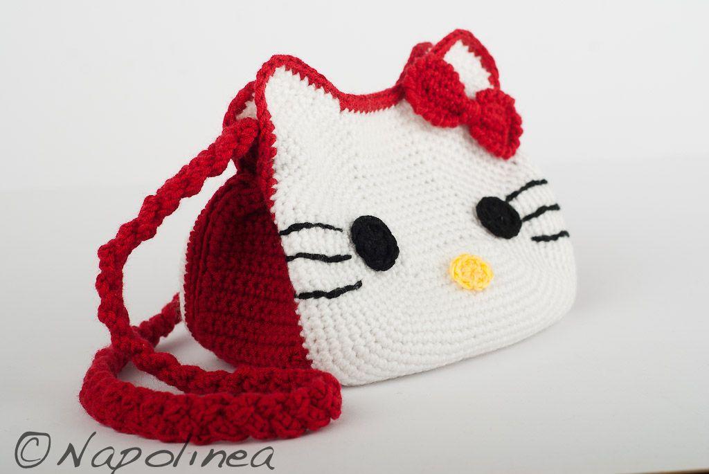 crochet Hello Kitty purse | Crochet | Pinterest | Carteras tejidas ...
