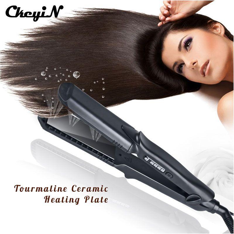 4 In 1 Interchangeable Plates Hair Straightener Crimping Iron Crimper H Hair Straightener And Curler Curl Hair With Straightener Professional Hair Straightener