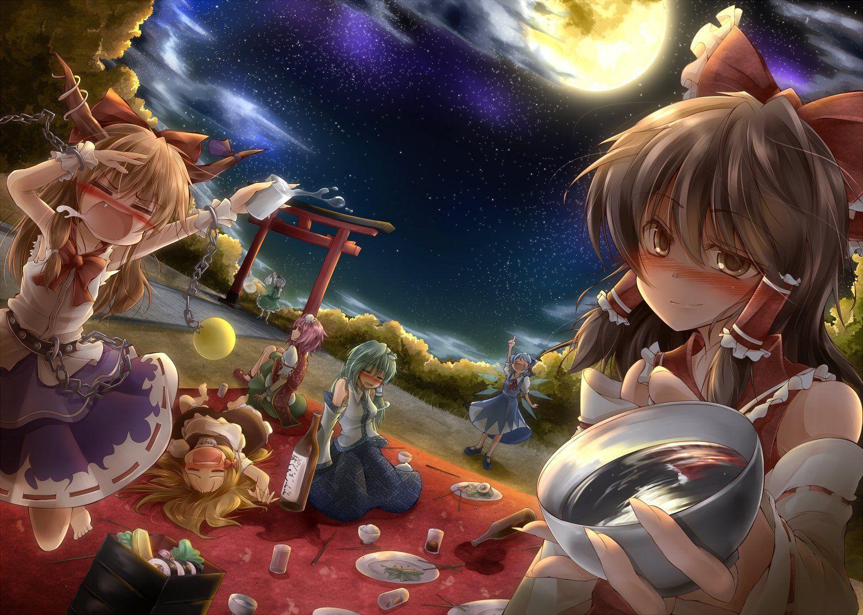 Anime Touhou Reimu Hakurei Cirno Touhou Marisa Kirisame