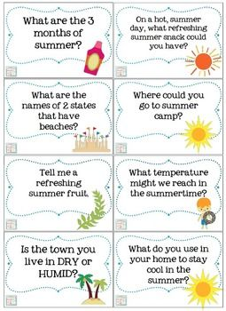 Summertime Trivia Questions & Games {for kids of all ages