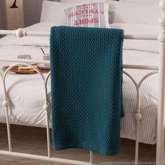 plaid 100 coton piqu pis boutis bleu canard 130x170cm emma comptoir des toiles 60 id es. Black Bedroom Furniture Sets. Home Design Ideas