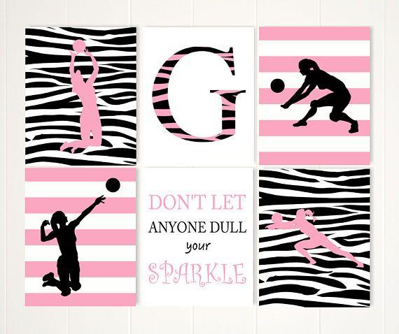 Volleyball Room Decor, Pre Teen Girls Wall Art, Teen Girl Gift