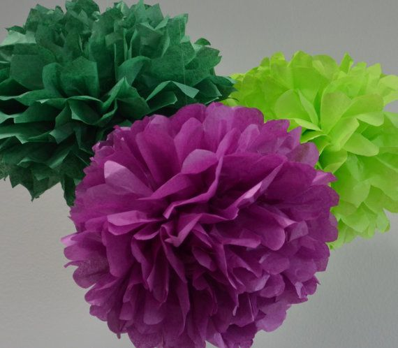 Baby Shower Decorations Tissue Paper Pom Poms by createandadorn, $8.00