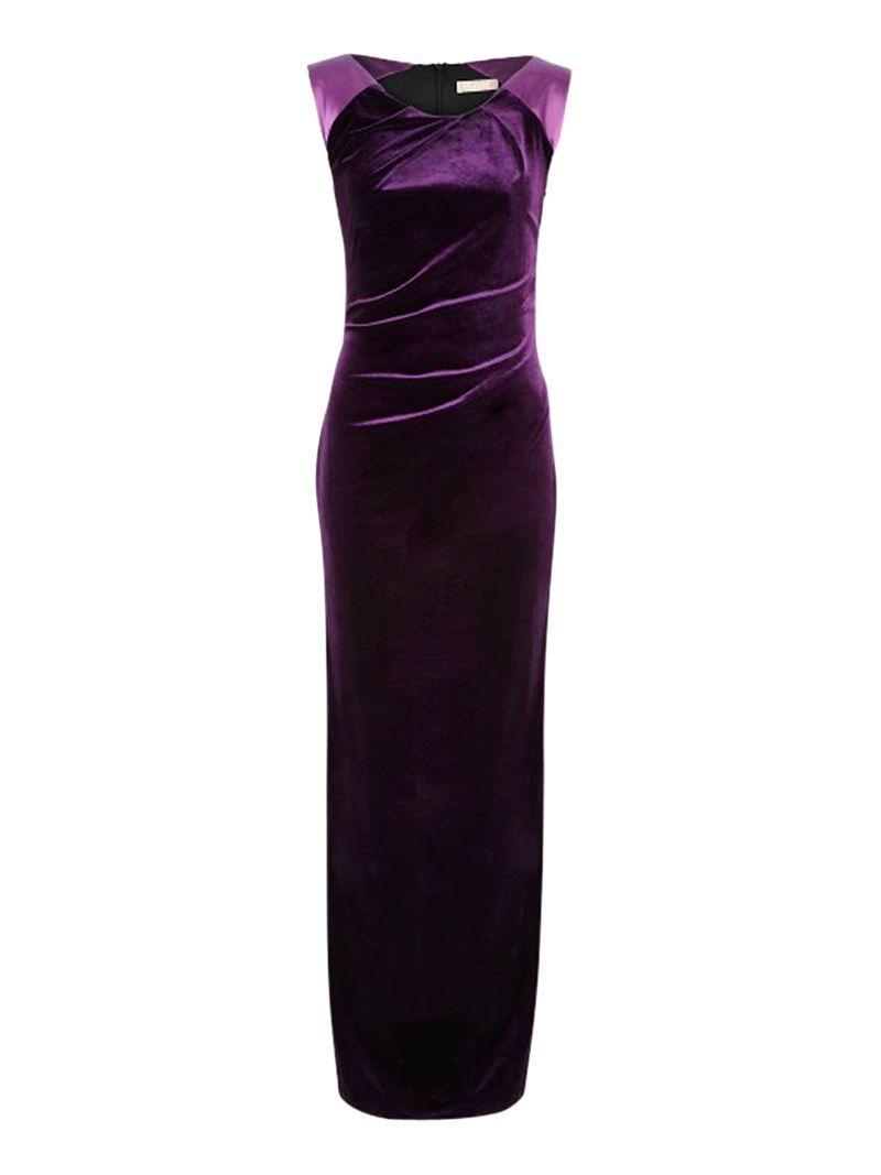 Planet Velvet Maxi Dress, Purple