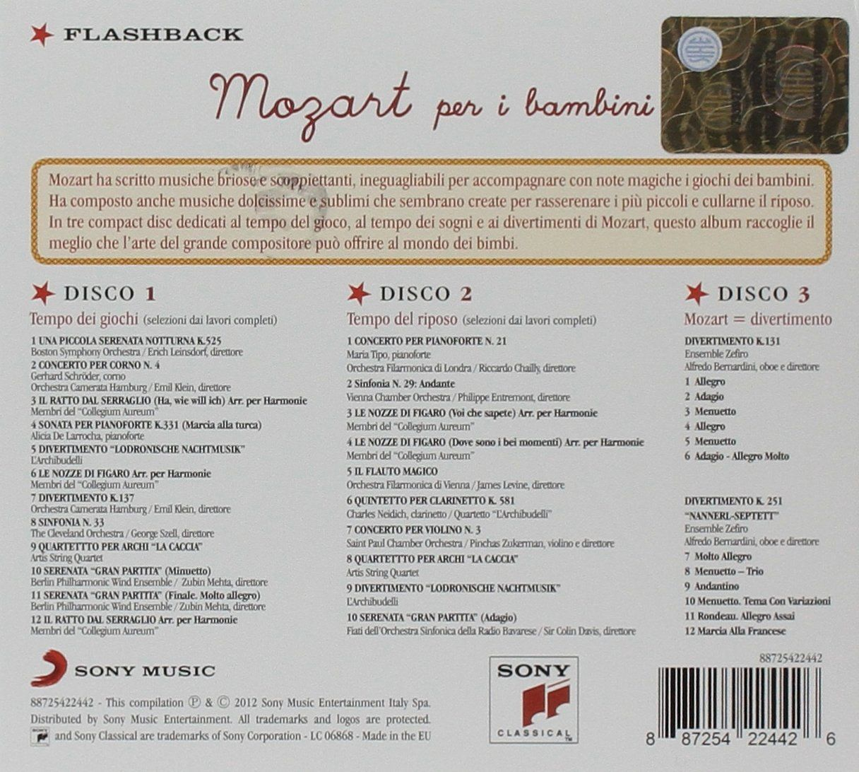 Mozart Per I Bambini : Various, Boston Symphony Orchestra: Amazon.it: Musica