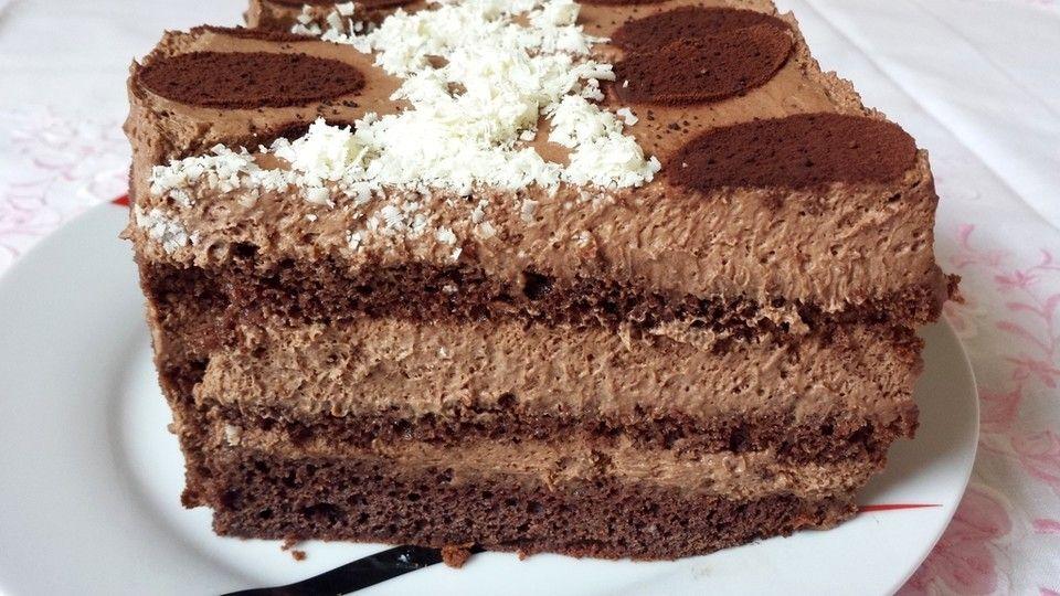 Schoko - Sahne - Torte, ein schmackhaftes Rezept aus der Kategorie Backen. Bewertungen: 10. Durchschnitt: Ø 3,9.