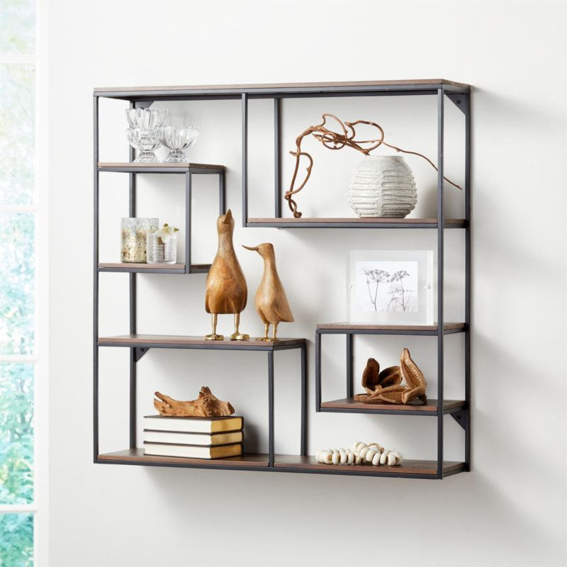 Decker Wood Cube Wall Shelf Reviews Crate And Barrel Cube Wall Shelf Wall Shelves Shelves