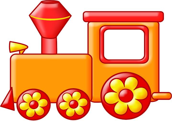 Анимационные, картинка с паровозом детская
