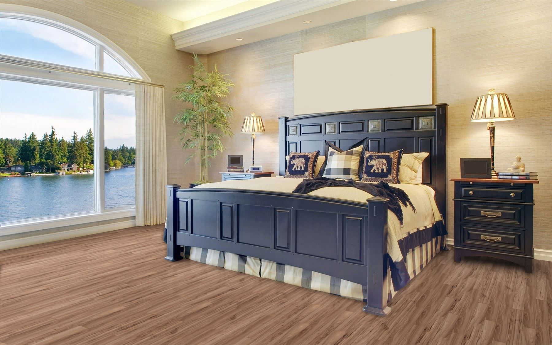Grassy Creek Maple Laminate Flooring Luxury bedroom master