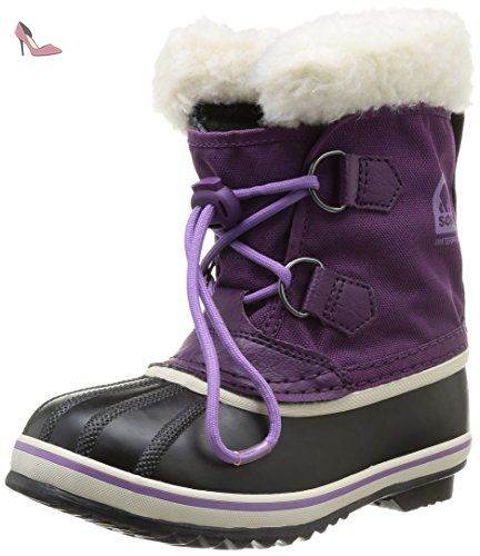 Sorel Yoot Pac Nylon, Bottes de neige mixte enfant - Violet (505 Gloxinia  Black