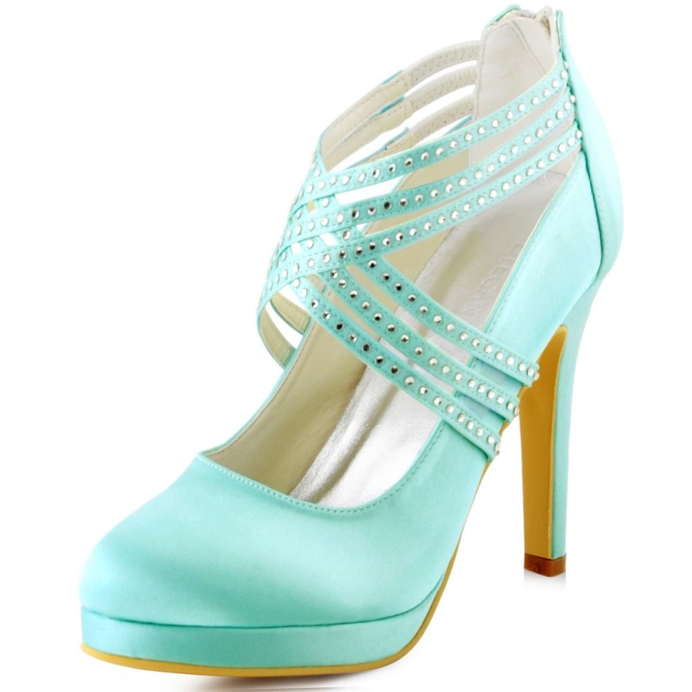 Click to Buy << EP11085-PF MInt Green Women Bride Bridesmaids Girls ...