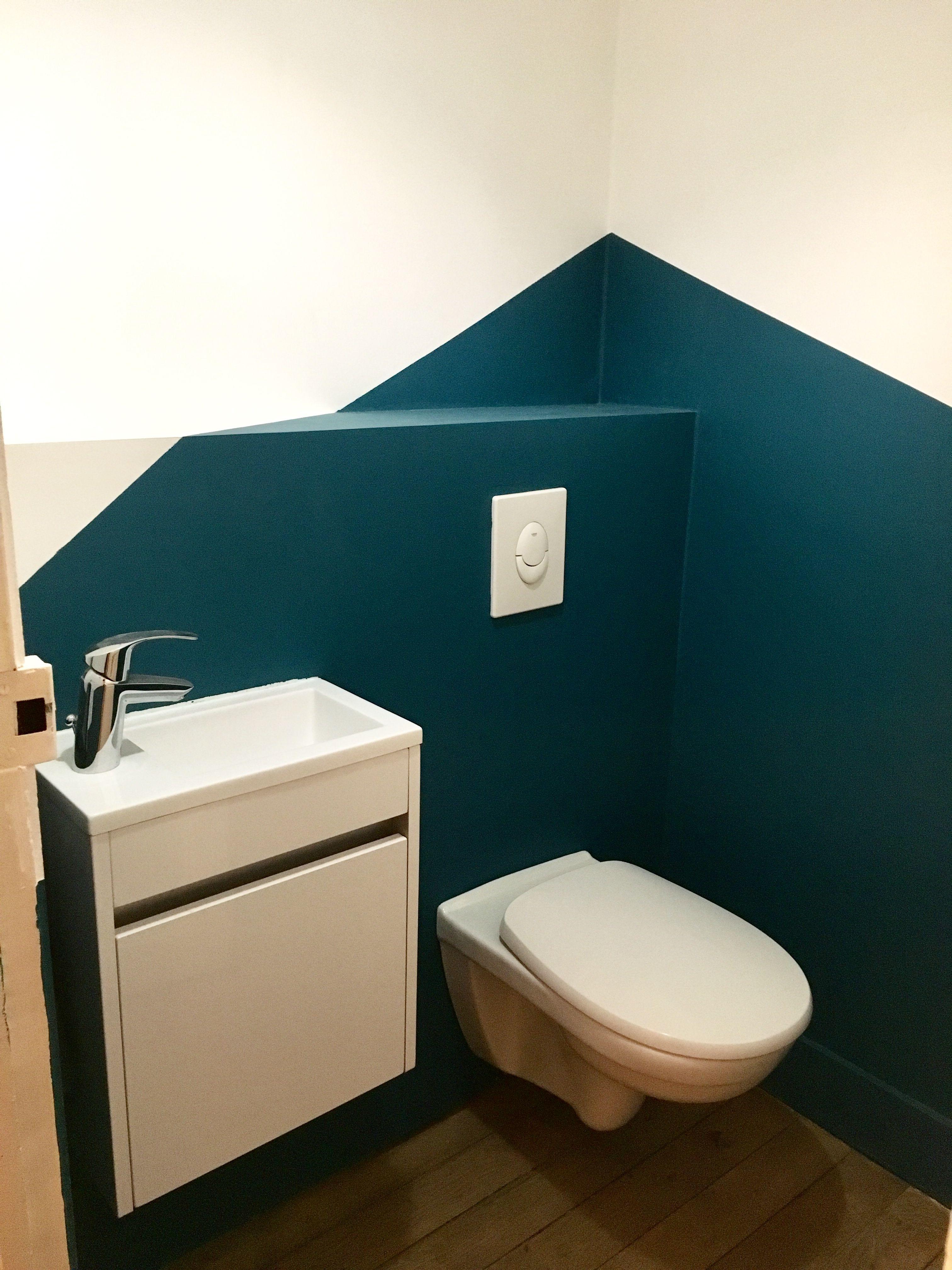 wc suspendu et son lave main deco