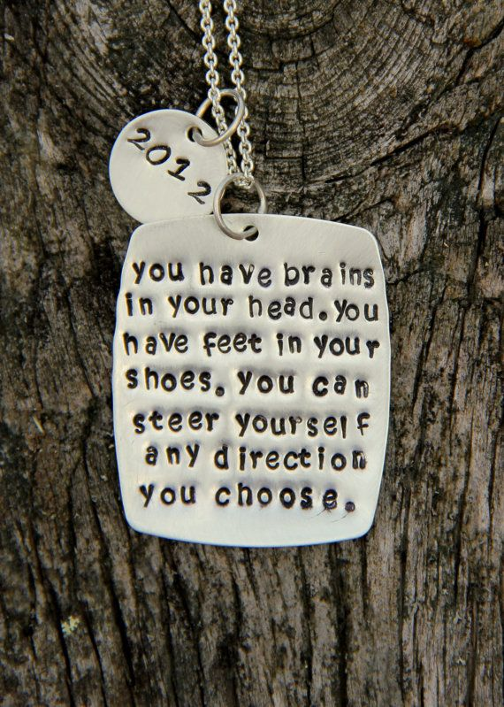 You Have Brains Necklace Funny Gift Choose Your Path Quote Square