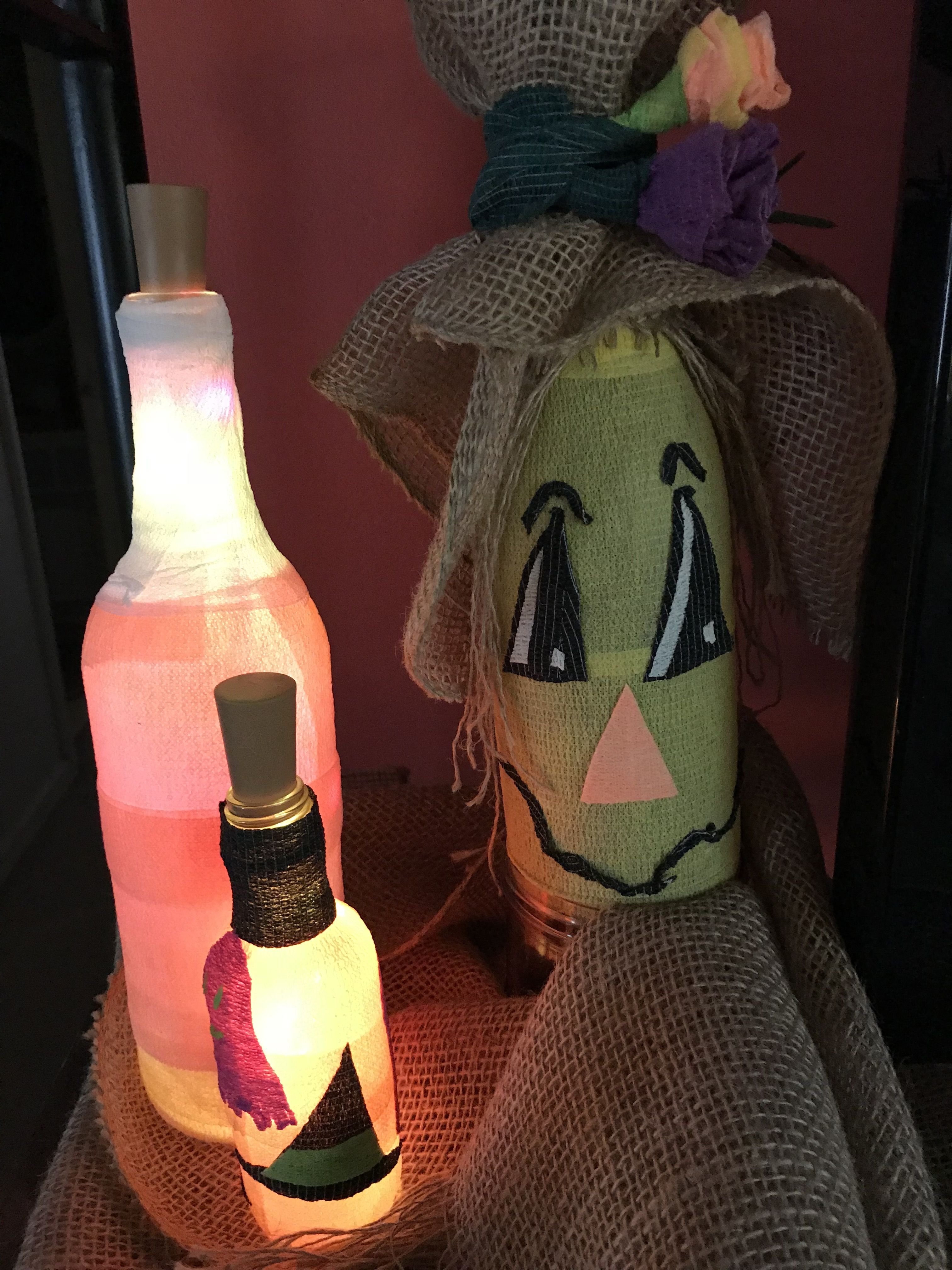 Fall art projects. vetwrapscarecrow candycorn lightitup