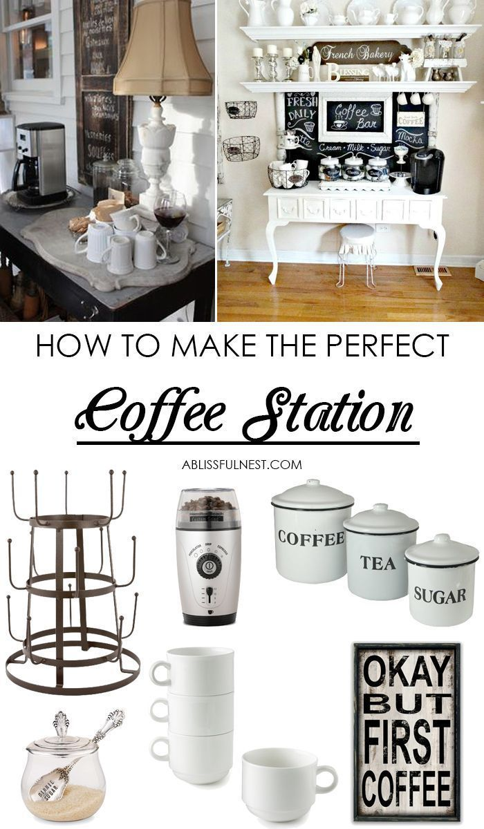 25+ DIY Coffee Bar Ideas for Your Home (Stunning Pictures) | Nest ...